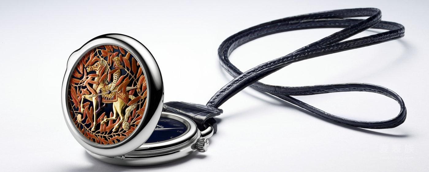 【2016巴塞尔国际钟表展】爱马仕集微绘、镌刻及珐琅彩绘工艺于一身的怀表套装