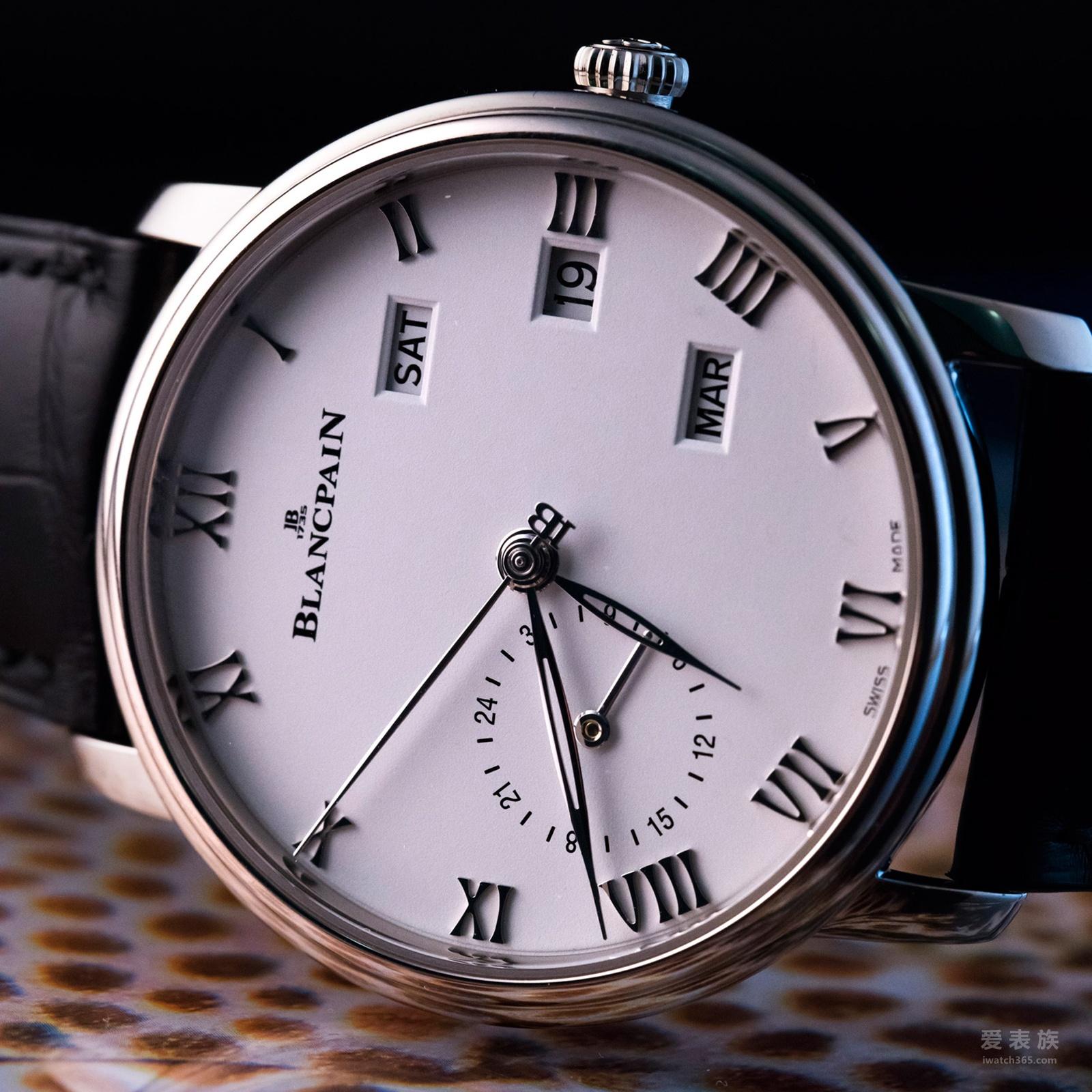 宝珀Villeret Quantième Annuel GMT两地时年历腕表精钢款