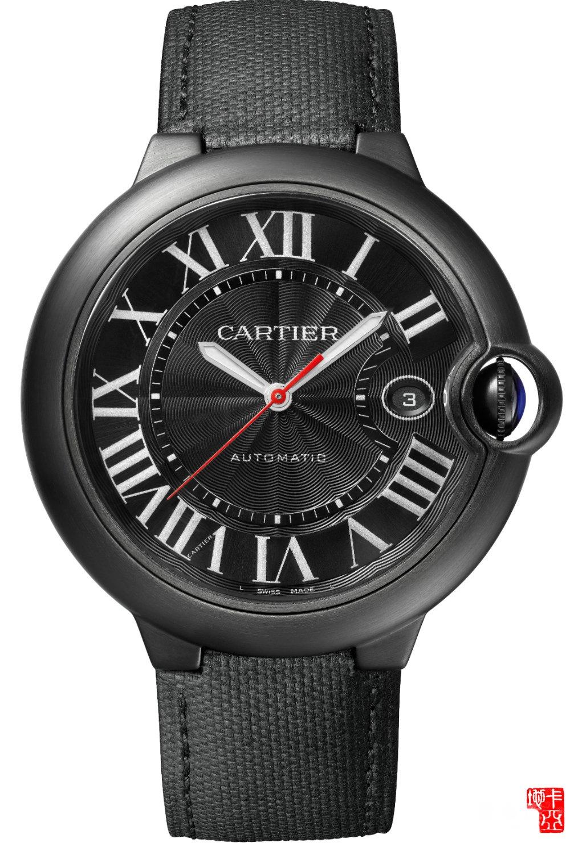 卡地亚蓝气球Ballon Blue系列WSBB0015 De Cartier Carbon腕表