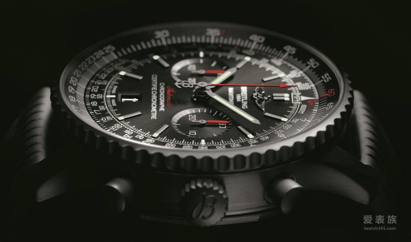 百年灵航空计时系列MB012822/BE51/252S/M20DSA.2计时46黑钢手表