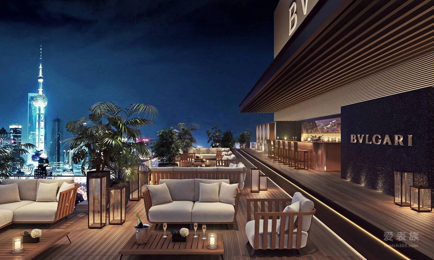 上海宝格丽酒店楼顶酒吧