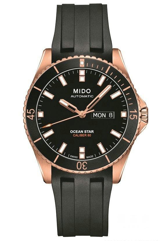 设计优雅功能卓越,领航80小时:MIDO美度表玫瑰金新色力作Ocean Star Captain海洋之星