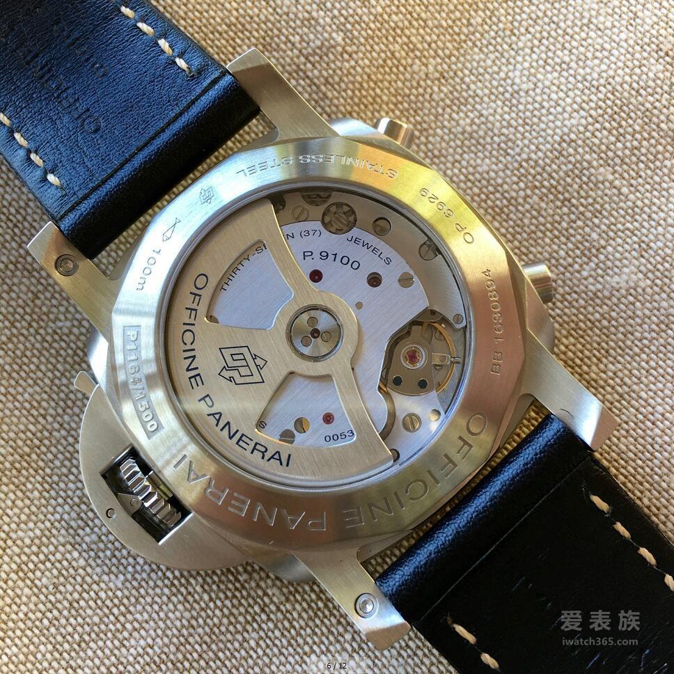 沛纳海Luminor 1950系列3日链PAM00524飞返计时自动Acciaio腕表