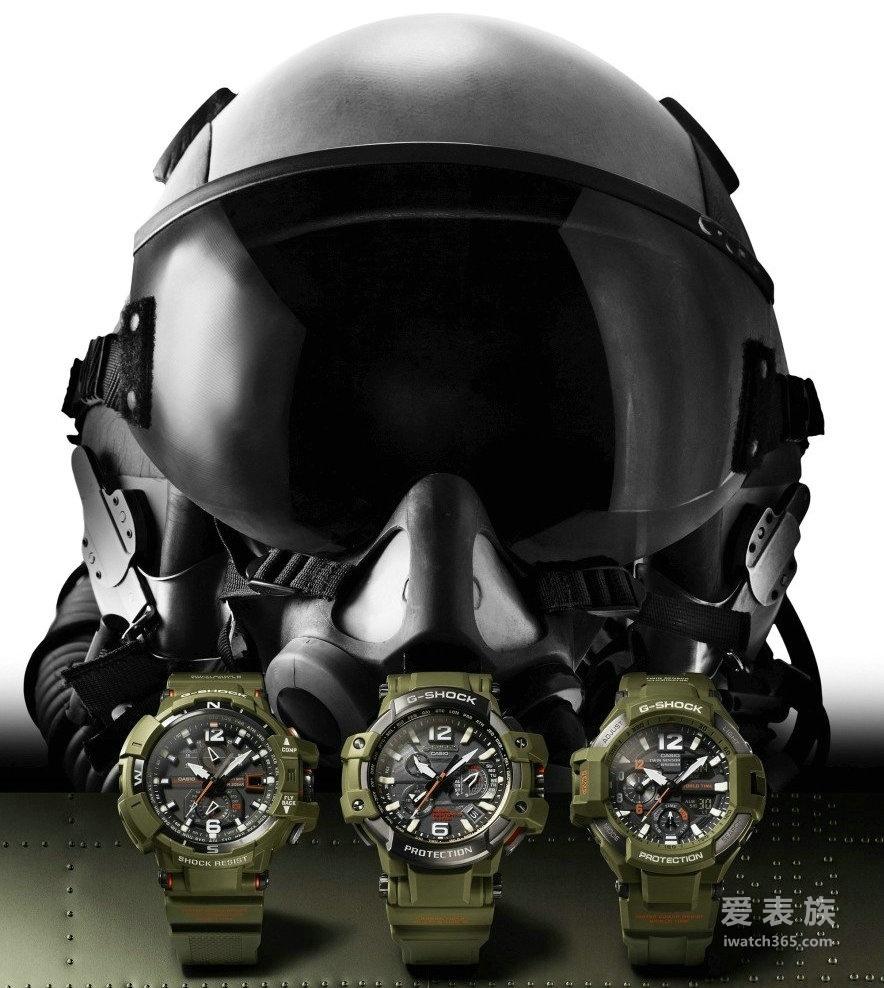 卡西欧G-SHOCK全新系列大展强悍军事风格男士腕表GPW-1000KH-3A