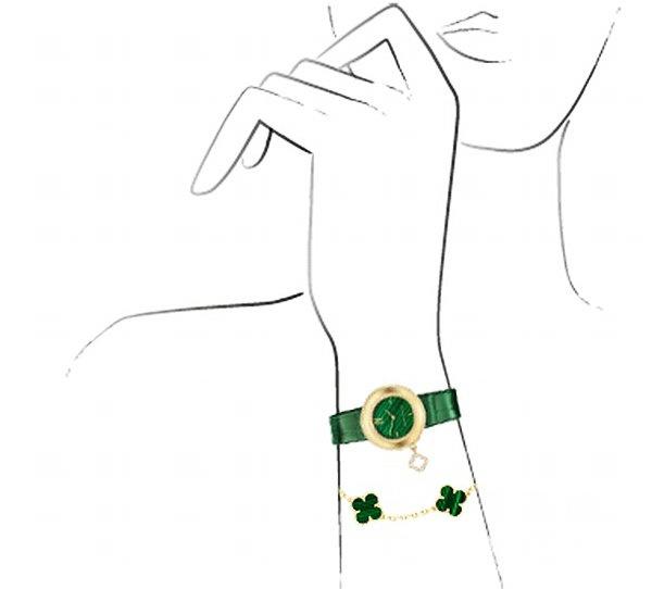 散发孔雀石缤纷色彩:Van Cleef&Arpels Charms系列Malachite腕表