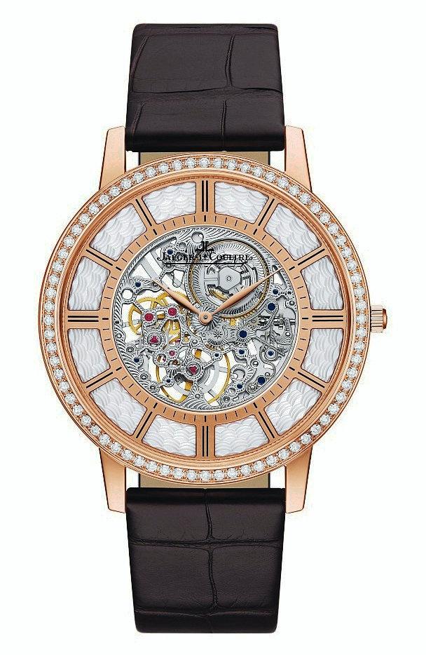 制表工艺与Métiers Rares珍稀工艺完美融合:积家超薄大师系列镂空腕表