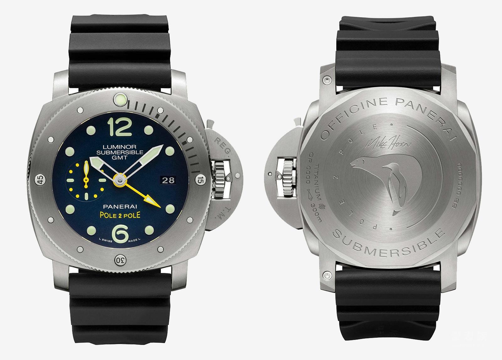 沛纳海Luminor 1950系列'Pole2Pole'3日链GMT专业潜水PAM00719自动腕表