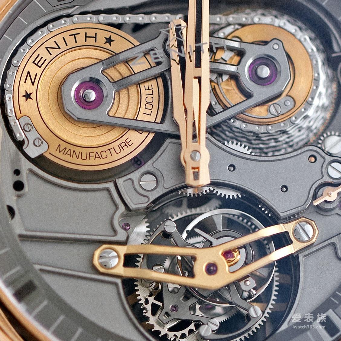 高速转动下的复杂机械工艺:真力时Academy 系列Georges Favre-Jacot芝麻链陀飞轮腕表