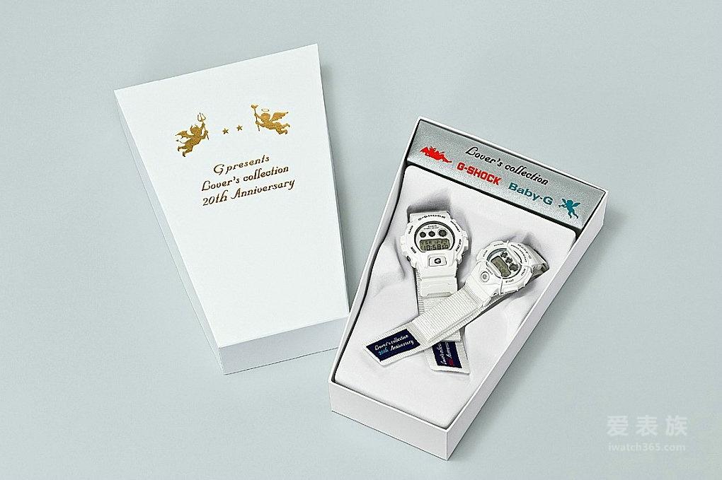 卡西欧G-SHOCK & BABY-G天使与恶魔圣诞套组对表推出20周年帆布纪念套组
