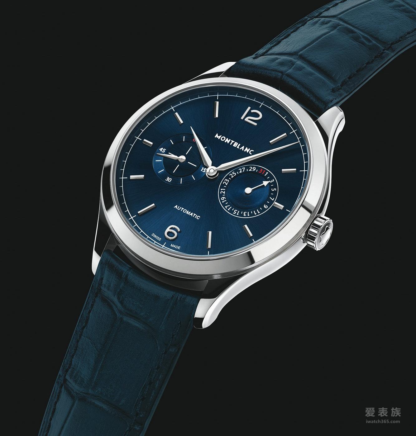 万宝龙传承精密计时系列再添两款全新蓝色复古造型腕表