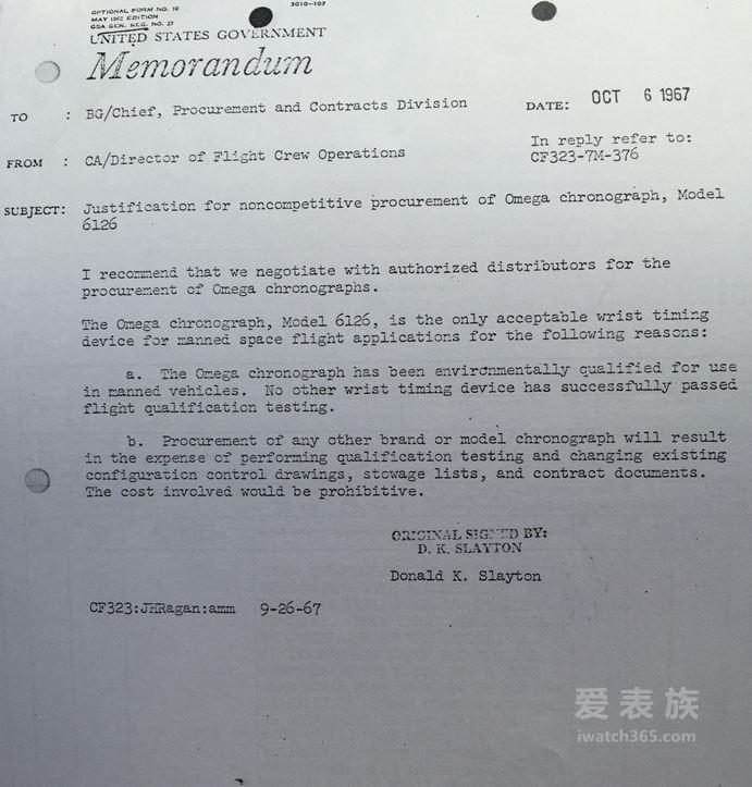 NASA文件揭秘欧米茄超霸登月背后的故事(第二部分)