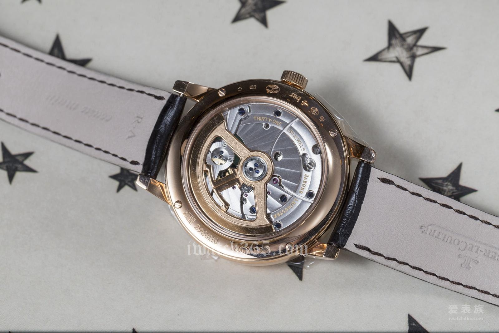简单的复杂款---积家大师系列圆柱游丝陀飞轮玫瑰金腕表