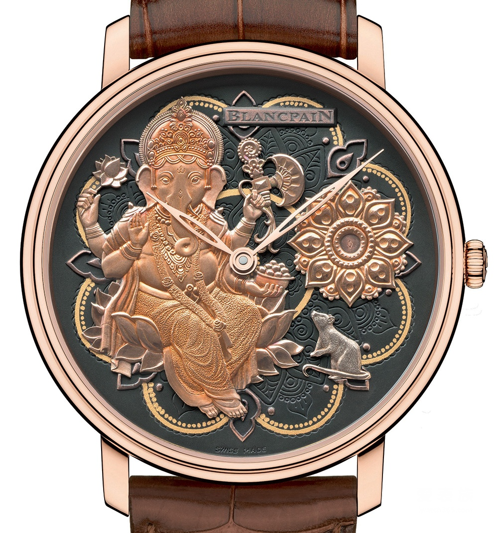 象头神迦尼萨——宝珀Villeret系列Métiers D'Art Ganesh腕表