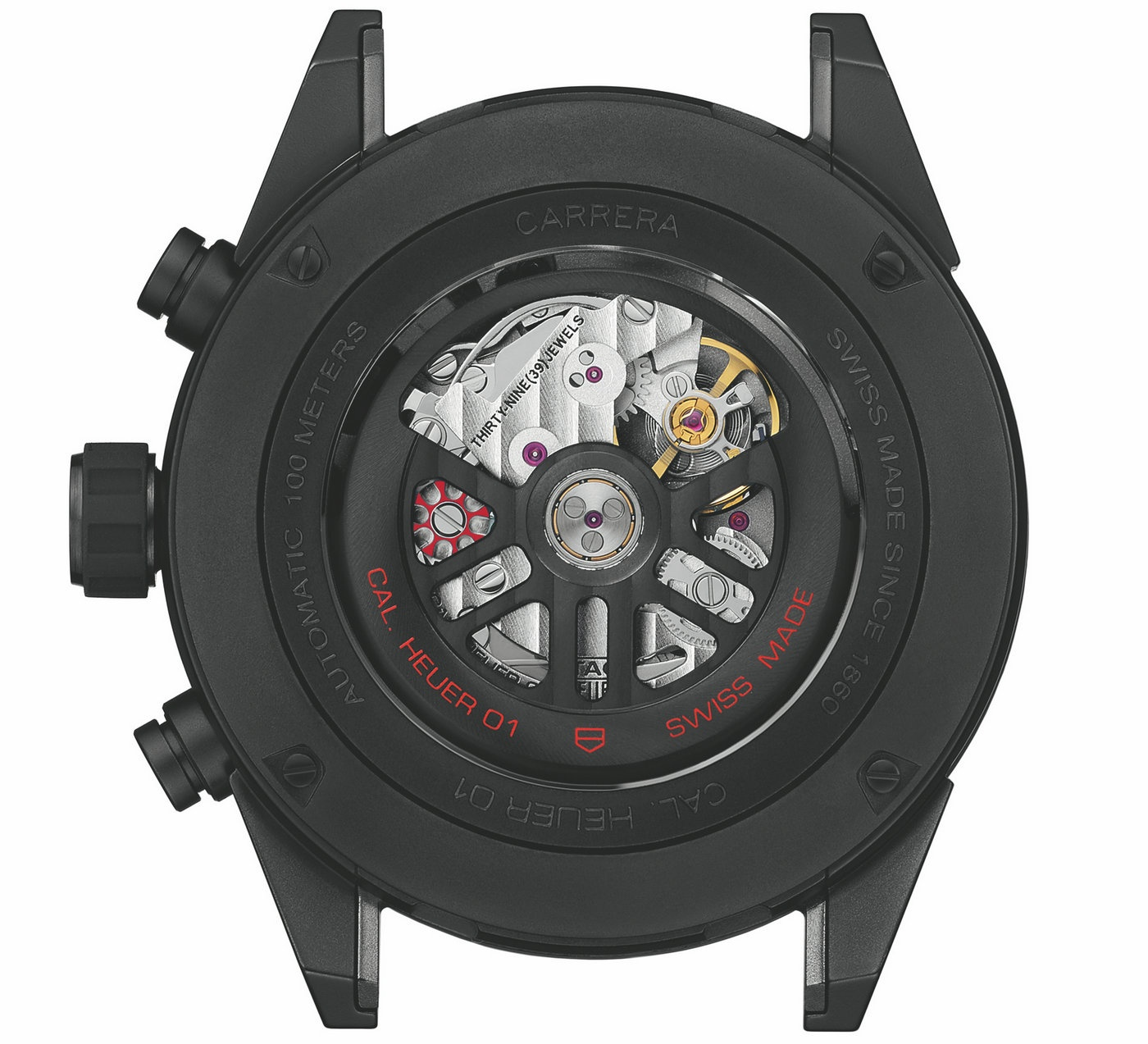TAG Heuer 泰格豪雅Carrera卡莱拉系列 HEUER-01 腕表 全黑亚光陶瓷款