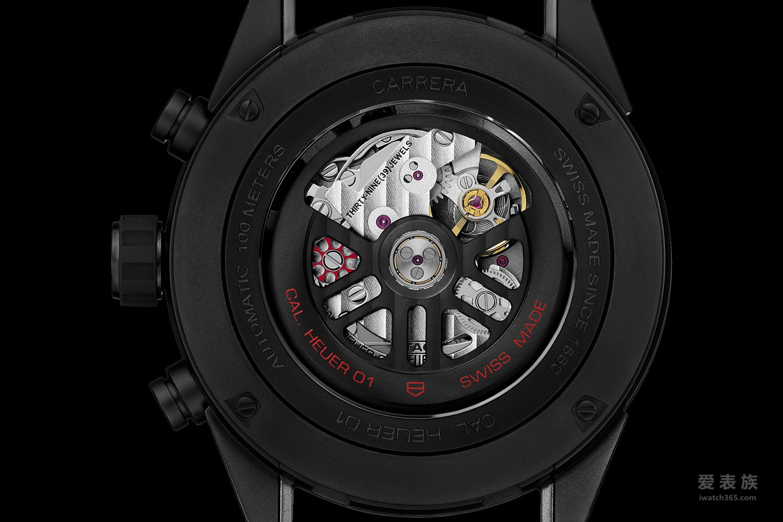 新年新气象——泰格豪雅Carrera卡莱拉系列Heuer 01全黑亚光陶瓷计时腕表
