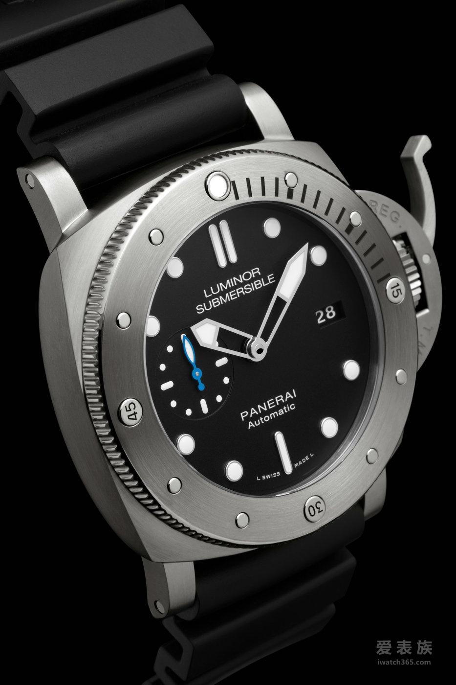 沛纳海Luminor 1950系列3日动力储存自动专业潜水钛金属腕表PAM01305