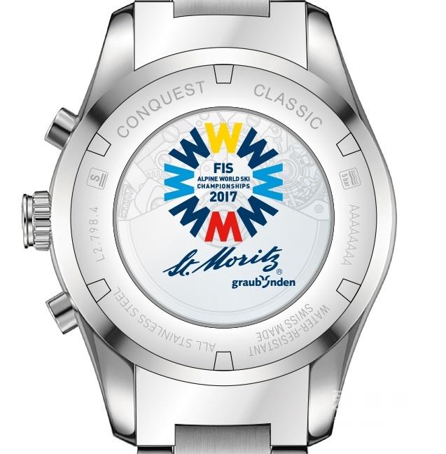 浪琴康铂系列圣莫里茨世界高山滑雪锦标赛男士纪念腕表 L2.798.4.96.6