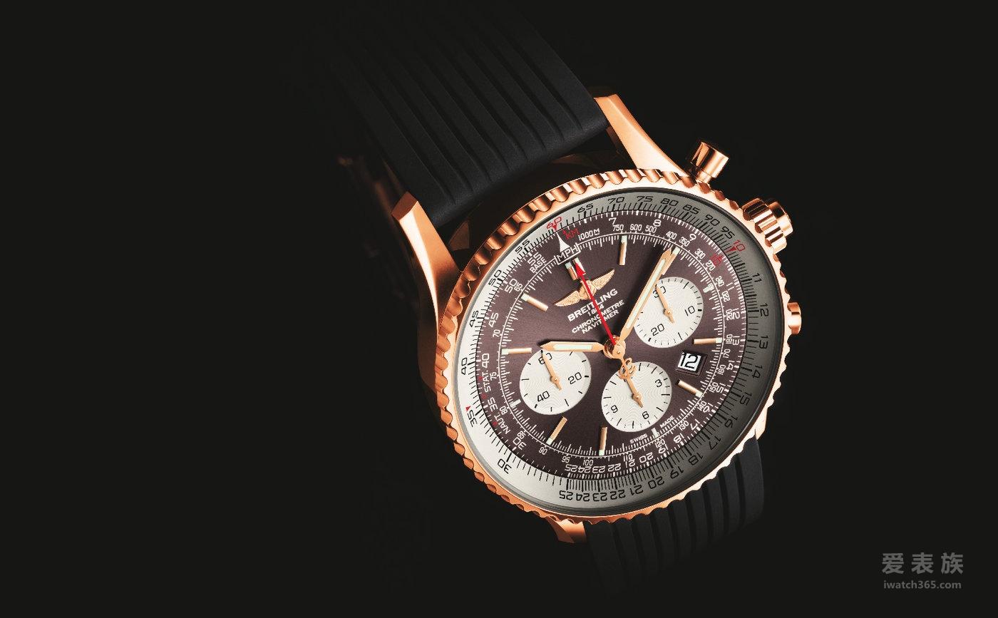 【2017 巴塞尔钟表展新款】百年灵航空计时双追针腕表