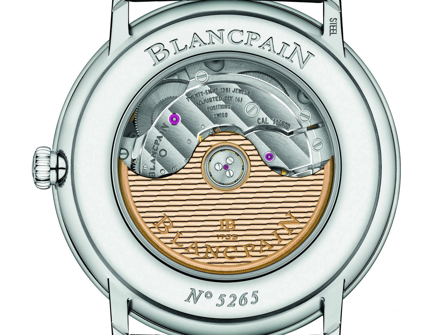 宝珀Villeret系列6652-1127-55B双历显示腕表