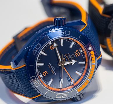 欧米茄海马系列海洋宇宙600米至臻天文台GMT腕表