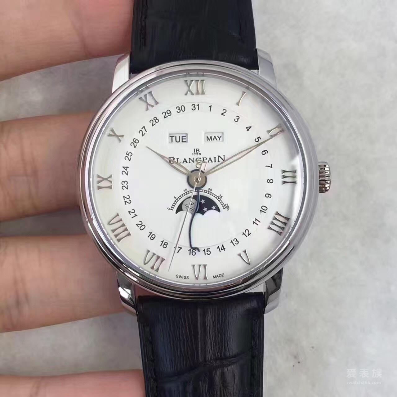 宝珀Villeret系列6654A-1127-55B男士腕表
