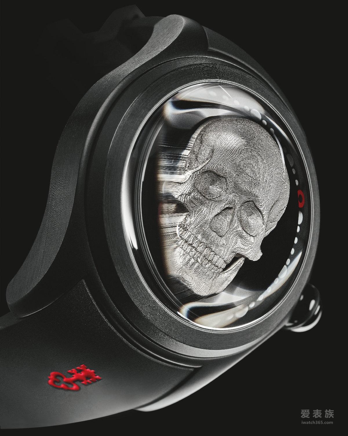 奇趣神秘 腕间震撼 CORUM昆仑表推出52 毫米大泡泡神奇3D骷髅腕表