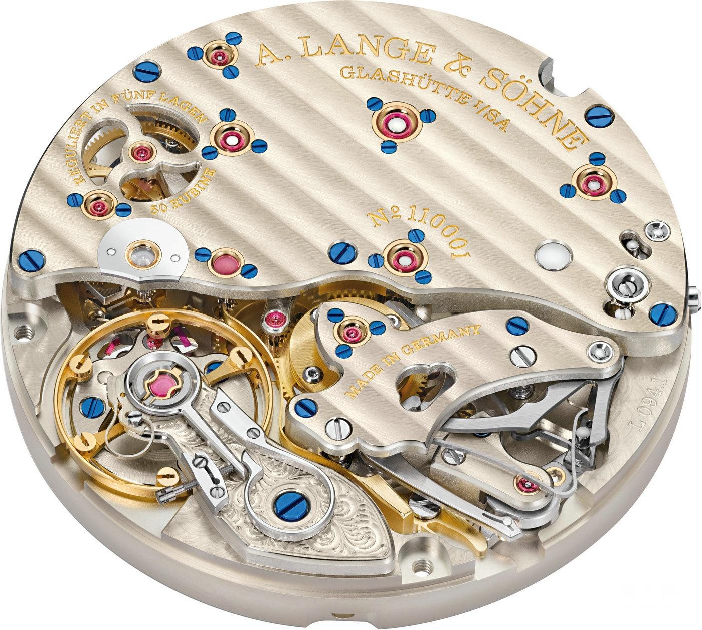 朗格整时器表盘设计腕表现备有18K玫瑰金款式