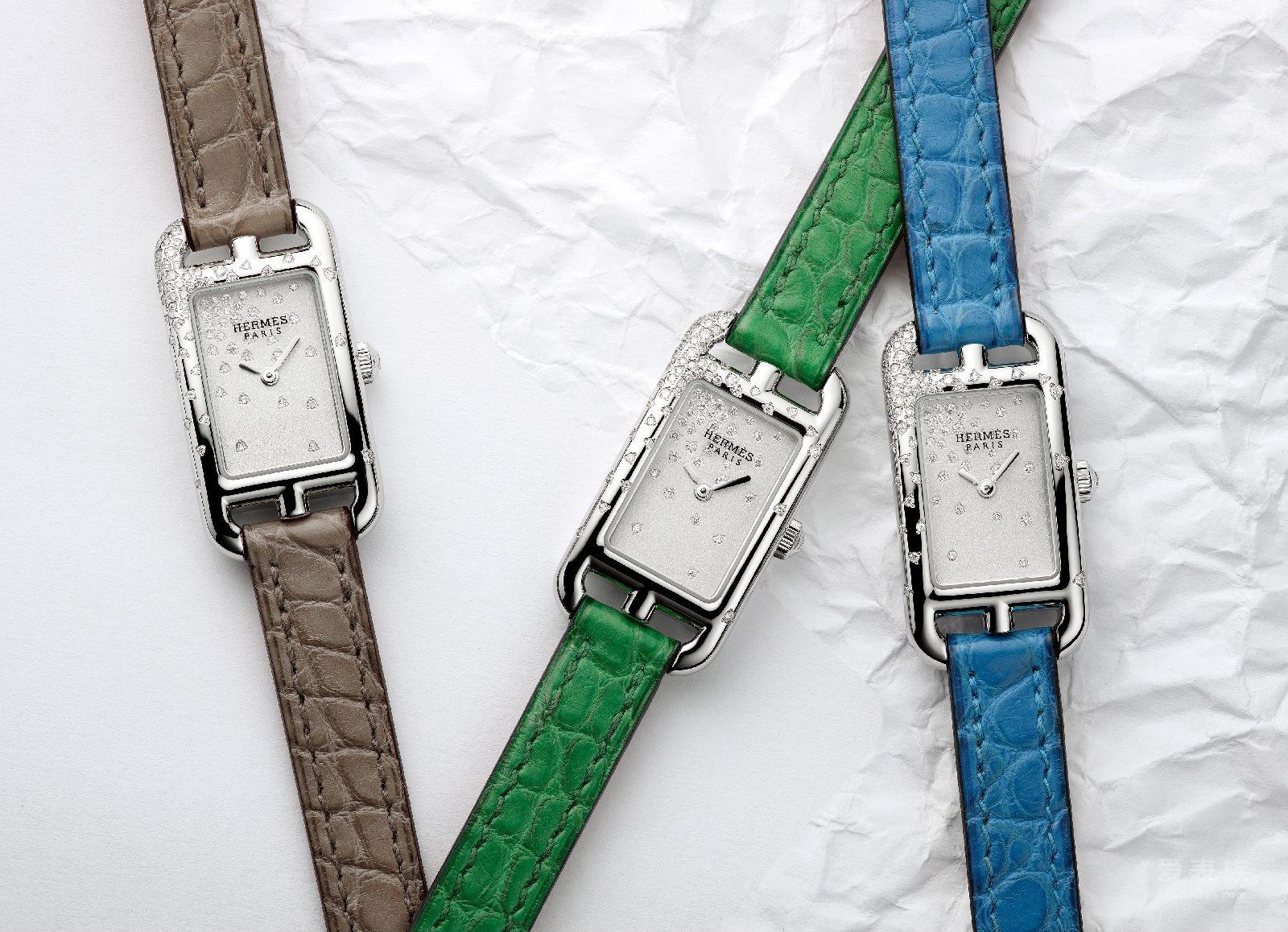 适合日间佩戴的珠宝表-全新爱马仕Nantucket Jete de Diamants腕表