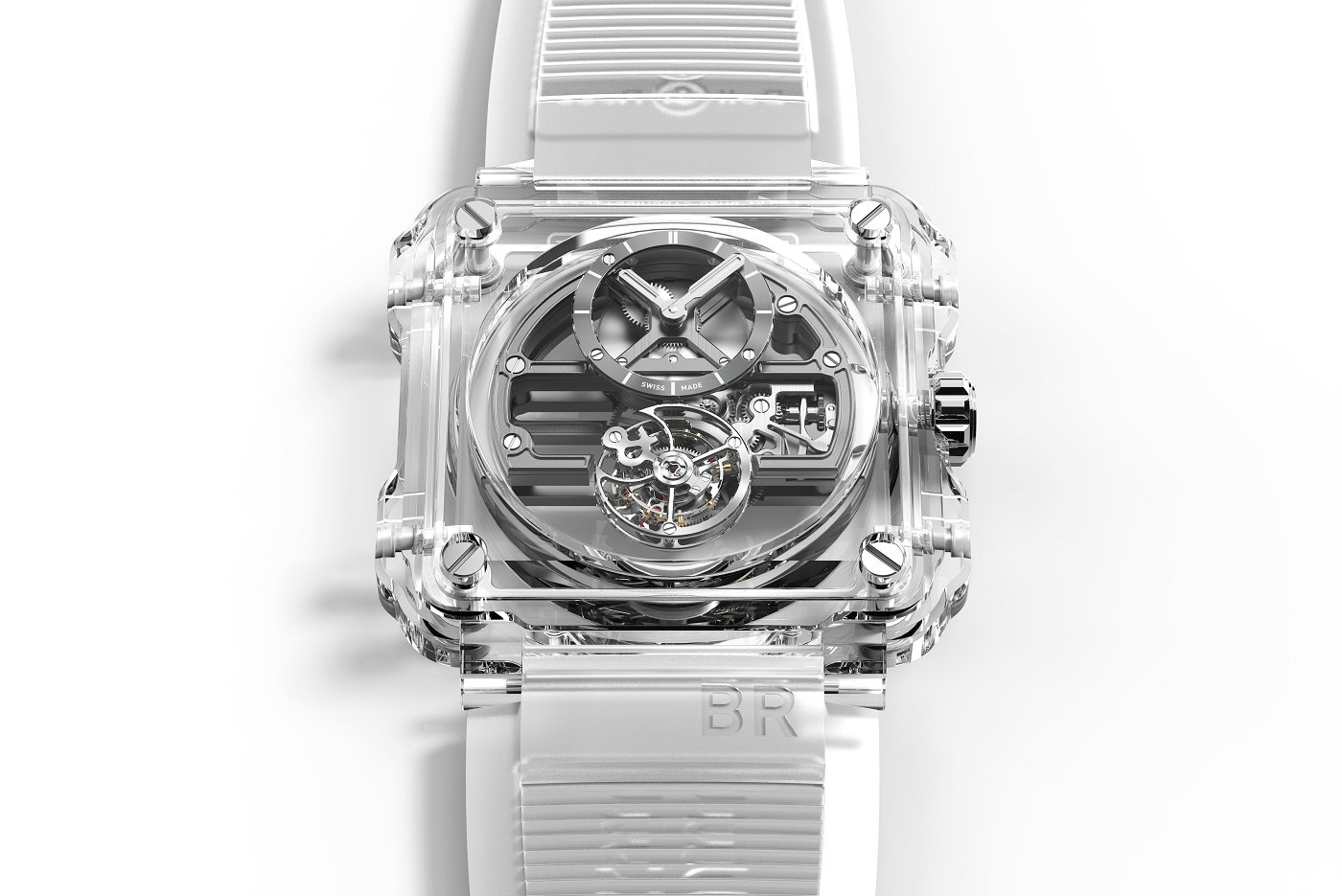 Bell & Ross柏莱士全新BR-X1 Skeleton Tourbillon Sapphire腕表