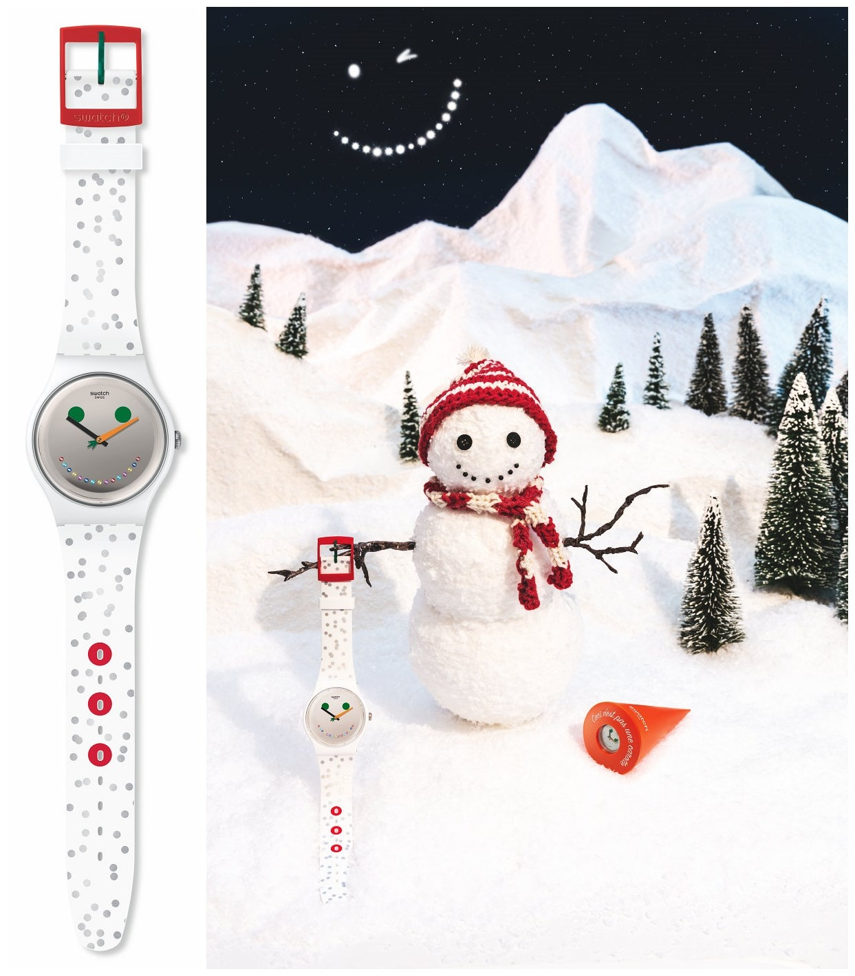 Swatch推出圣诞限量版腕表ISIDOR,和雪人一起庆祝圣诞节!