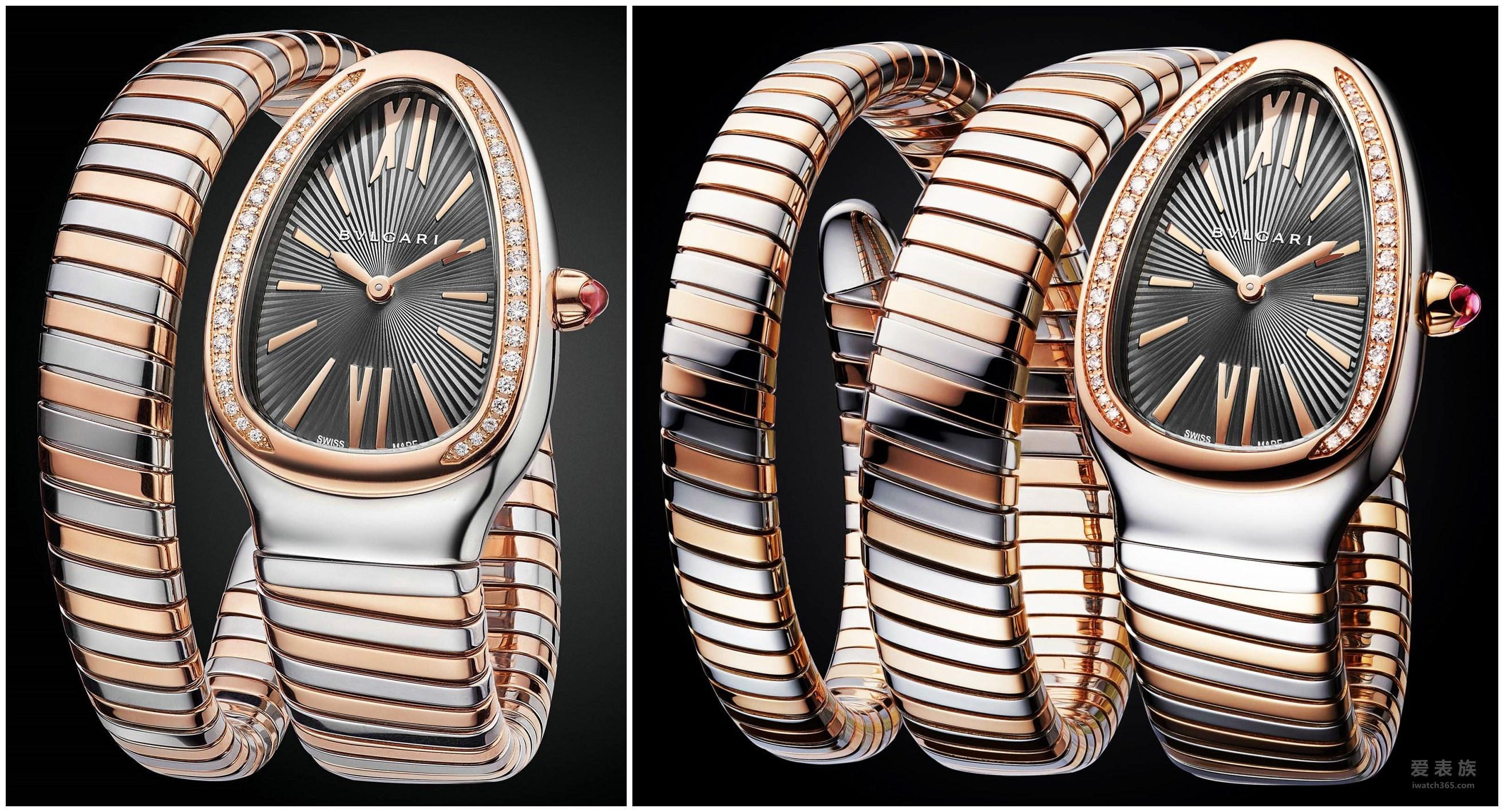 宝格丽Serpenti系列新款腕表:耀目传奇 无限新生