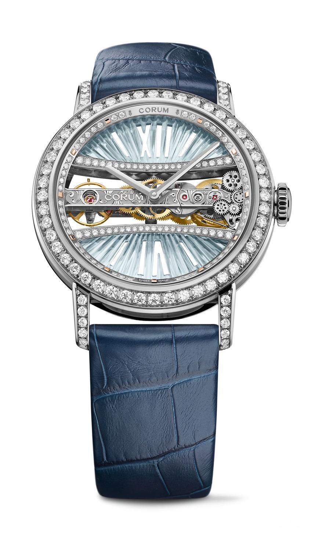 华丽彩桥横空 演绎红蓝舞曲 CORUM昆仑表推出全新39毫米金桥圆形腕表