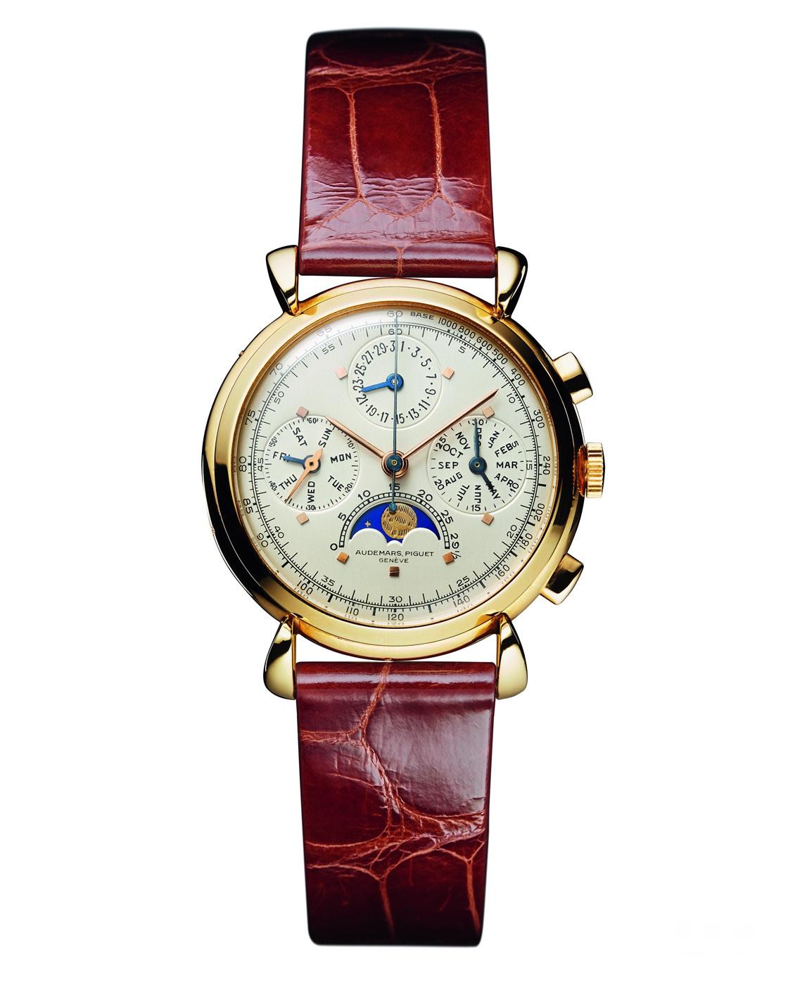 兼具计时功能的爱彼全历腕表Ref. 7020,制作于1943年,如今由HODINKEE创始人Benjamin Clymer收藏