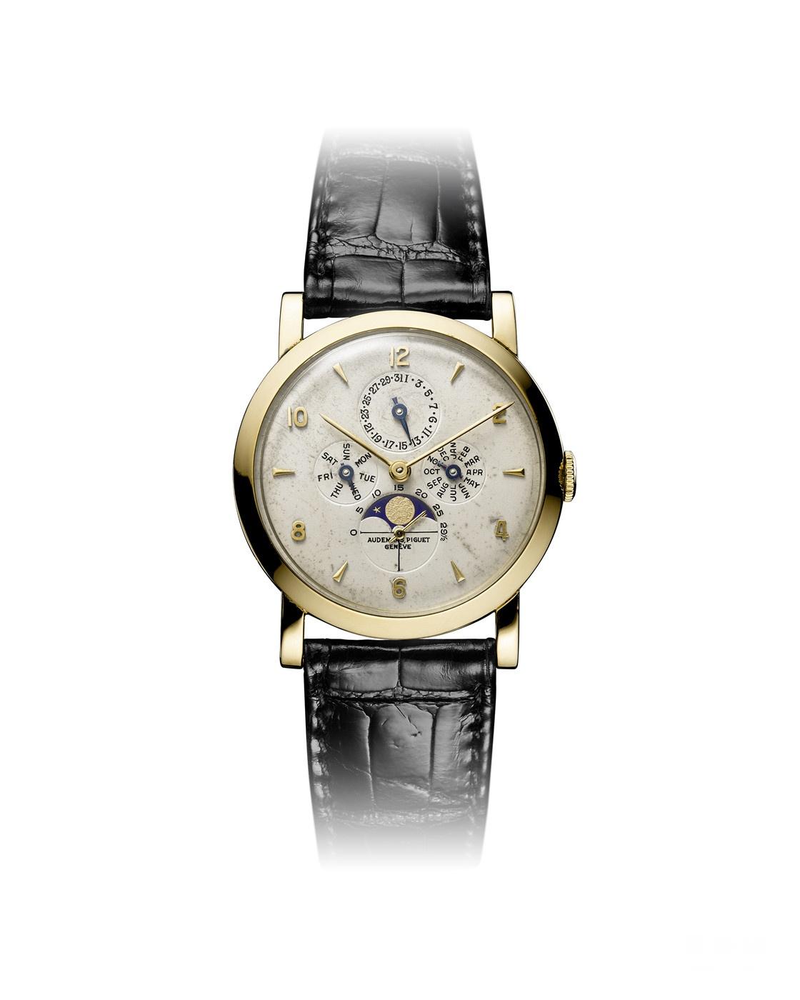 1951年面世的爱彼全历腕表Ref. 5513,奠定了1970年代品牌首款自动上链万年历腕表的设计之本