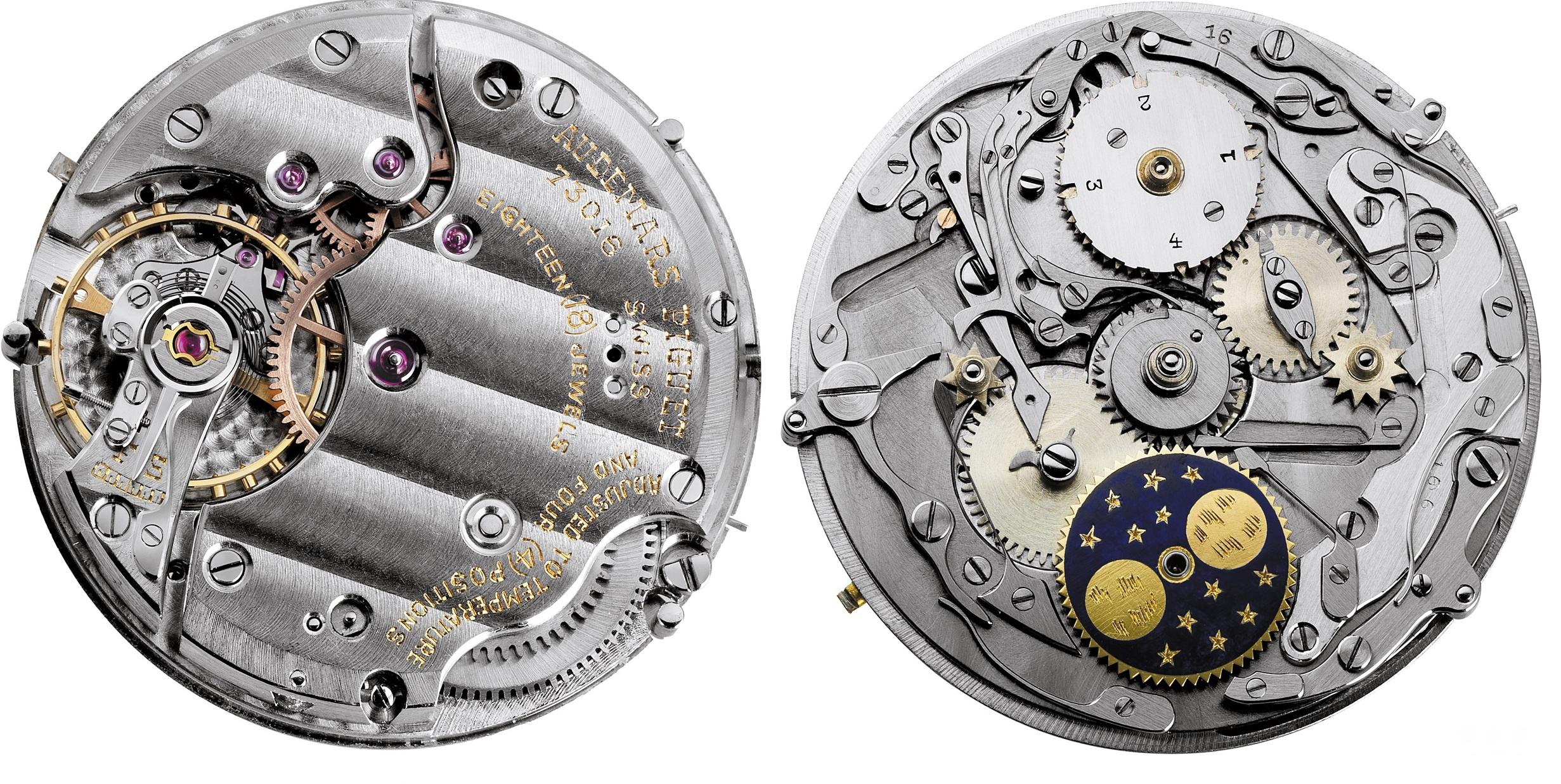 1955年,爱彼推出首款具有闰年显示的万年历腕表机芯Calibre 13VZSSQP