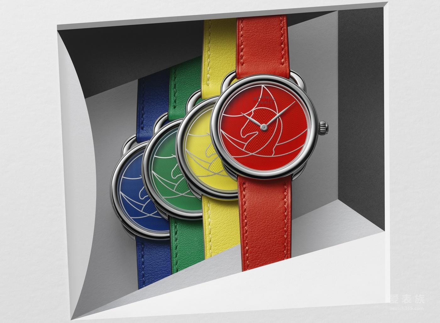 【SIHH2018】爱马仕继续传奇故事推出色彩鲜艳的Arceau Casaque腕表
