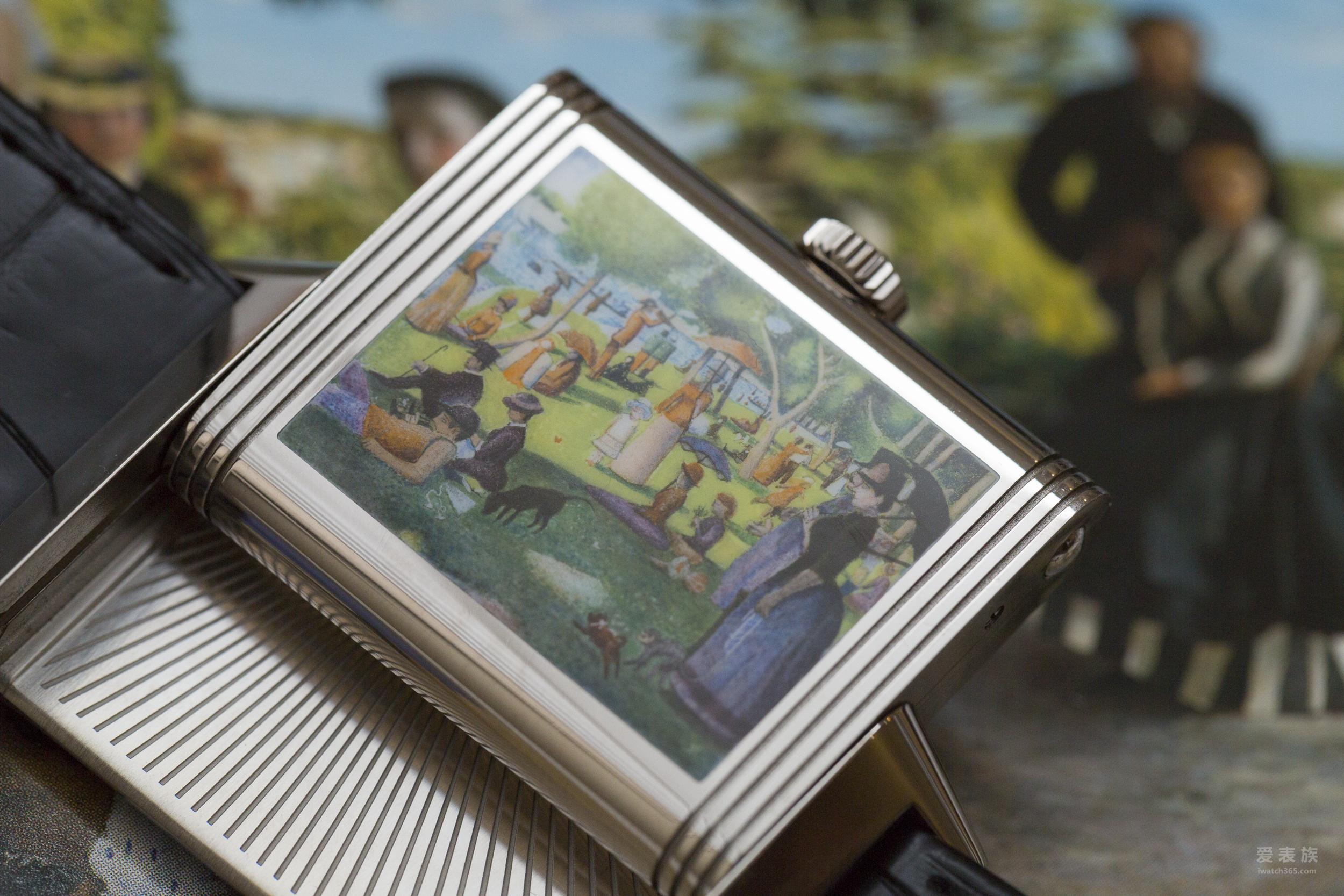 百达翡丽Logo的Reverso腕表,与神奈川巨浪,还有瑞士风景画