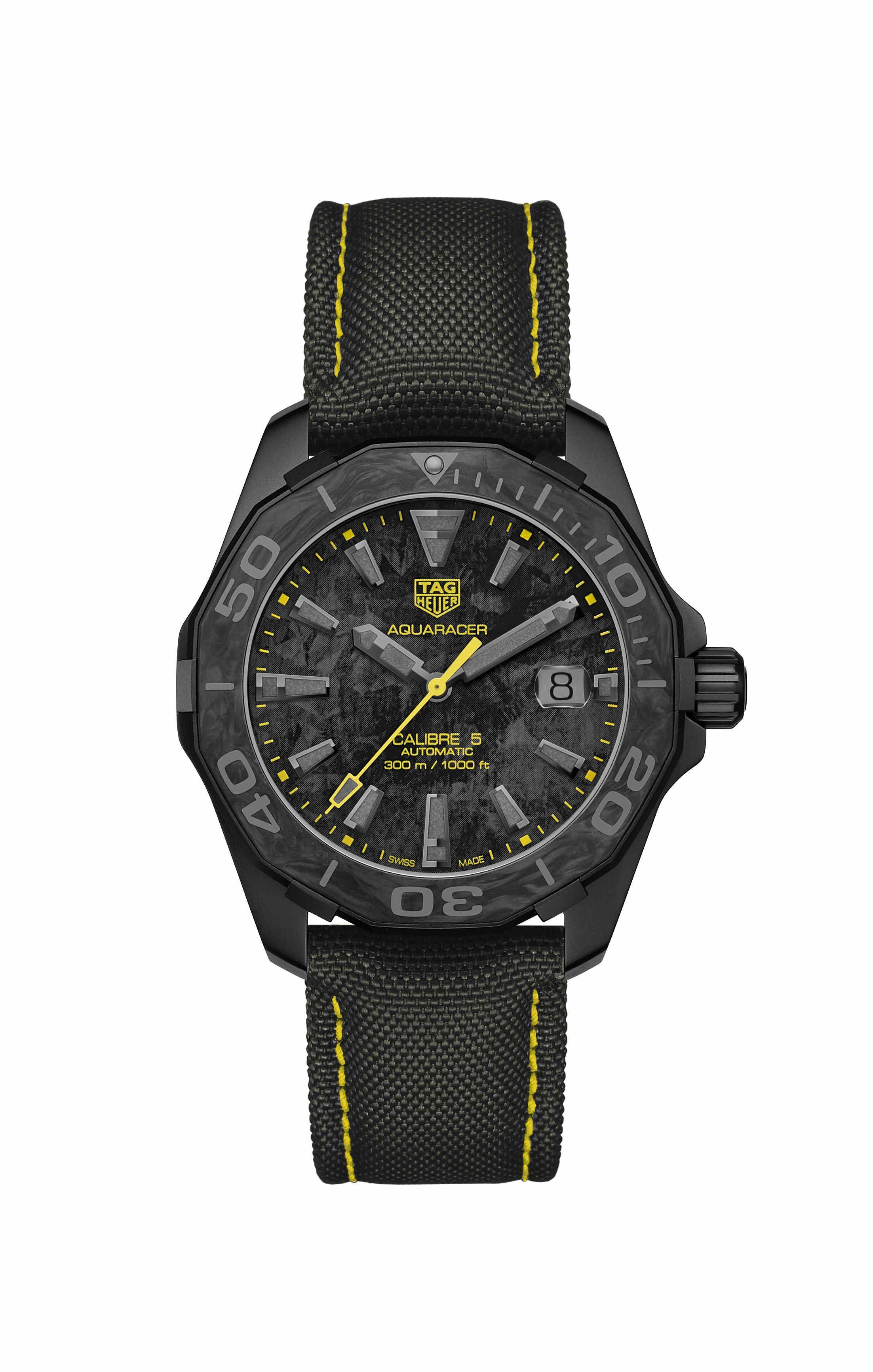 TAG Heuer泰格豪雅荣推碳纤维特别款腕表 仅在精品店以及官网发售
