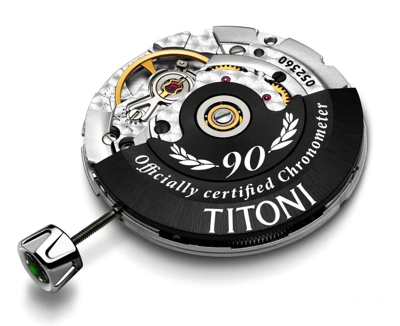 Titoni手工组装的机芯