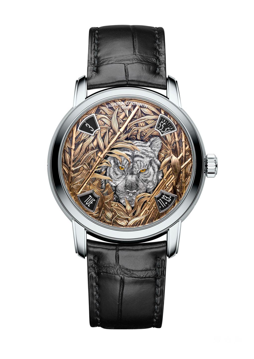 江诗丹顿Les Cabinotiers阁楼工匠神秘动物 腕表:以线雕技法生动演绎野生老虎