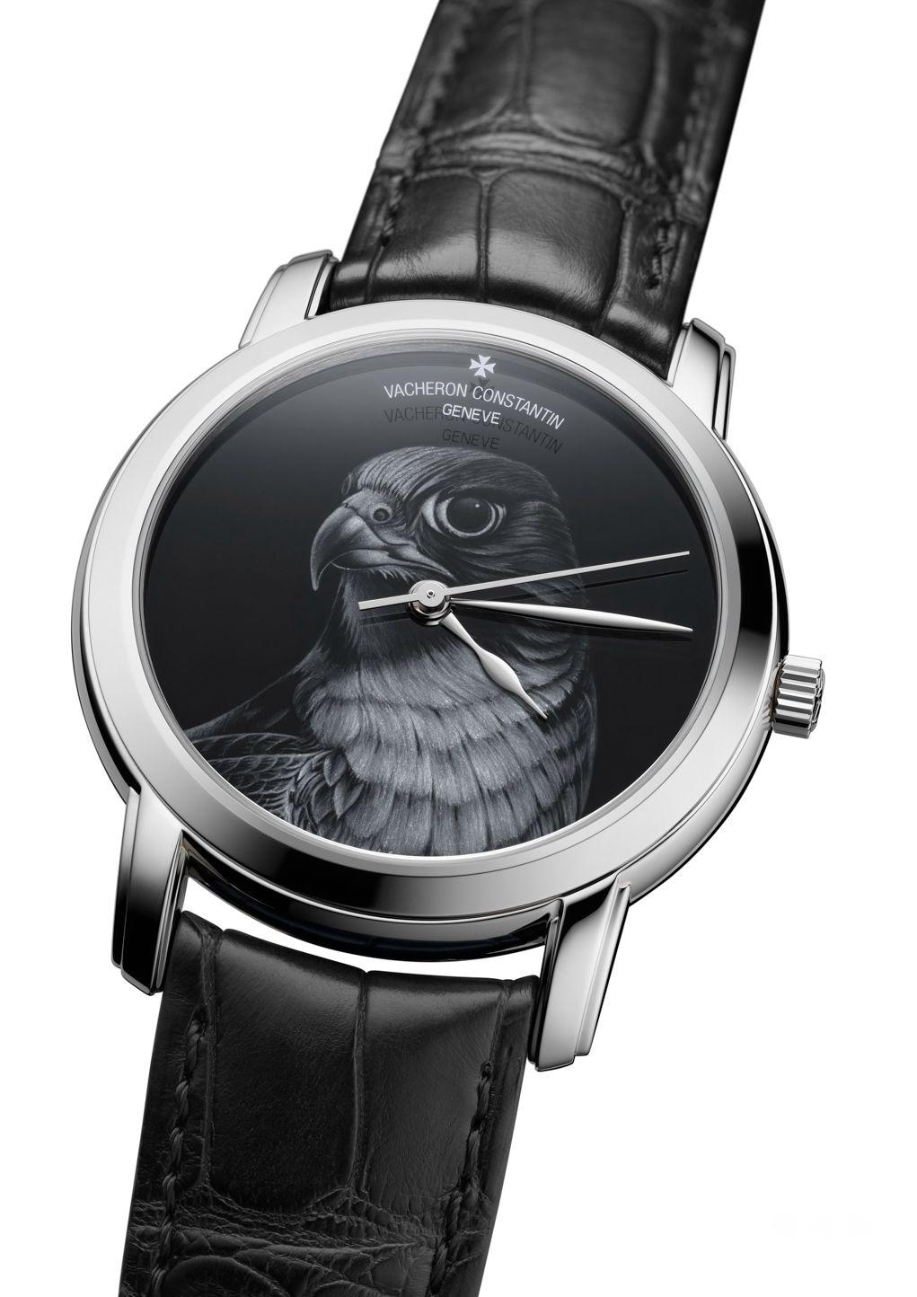 江诗丹顿Les Cabinotiers阁楼工匠灰阶珐琅 腕表:以猎鹰之姿驯服时光
