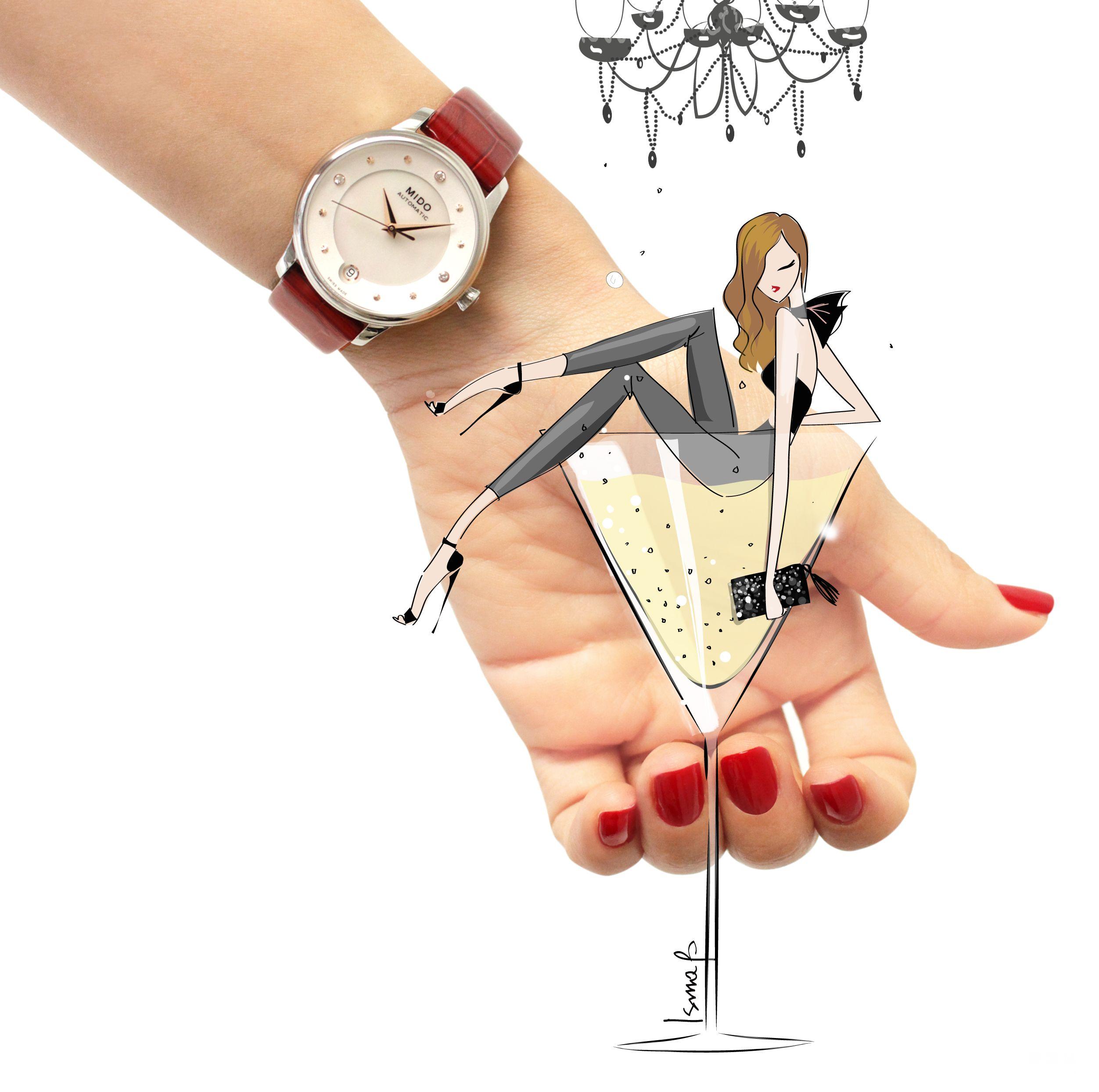 """瑞士美度表贝伦赛丽系列""""晨夕""""长动能真钻女士腕表 时尚型格,腕间闪耀"""
