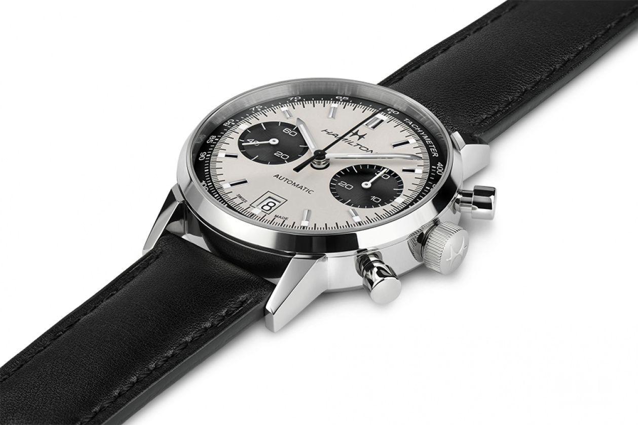 盘靓价平国内没得买---汉米尔顿熊猫面Intra-Matic计时腕表