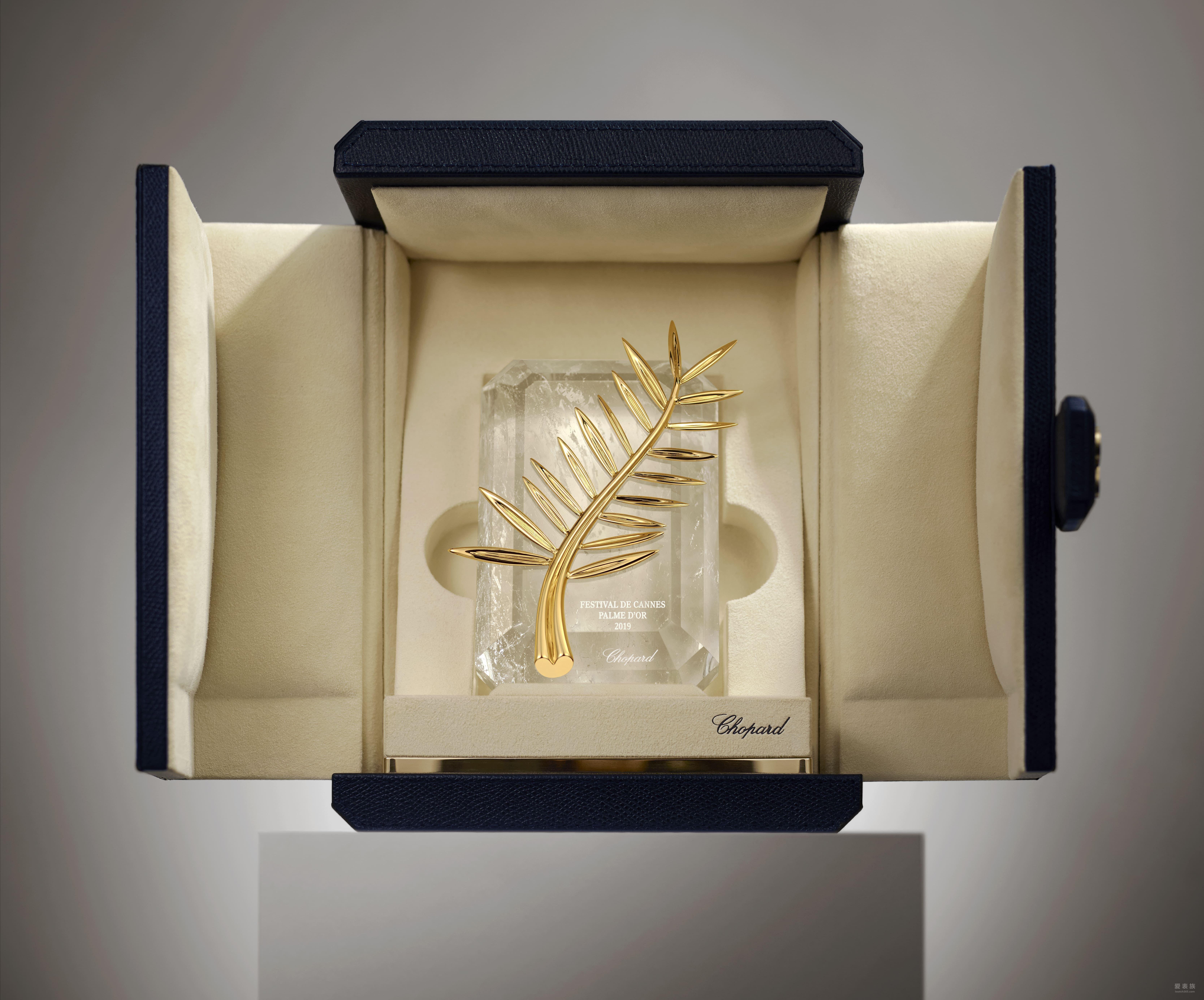 chopard萧邦悉心分娩电影界弥足珍贵的电影chopard萧邦与美国电影节打造的戛纳奖杯图片