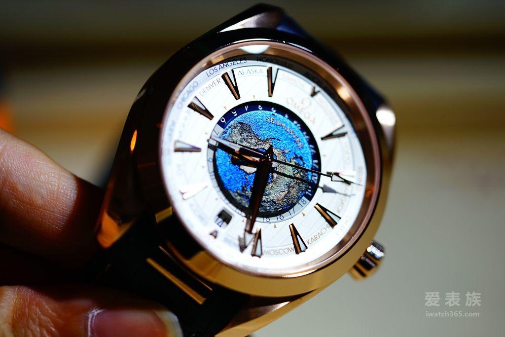 AQUA TERRA 150米腕表欧米茄同轴至臻天文台GMT世界时腕表