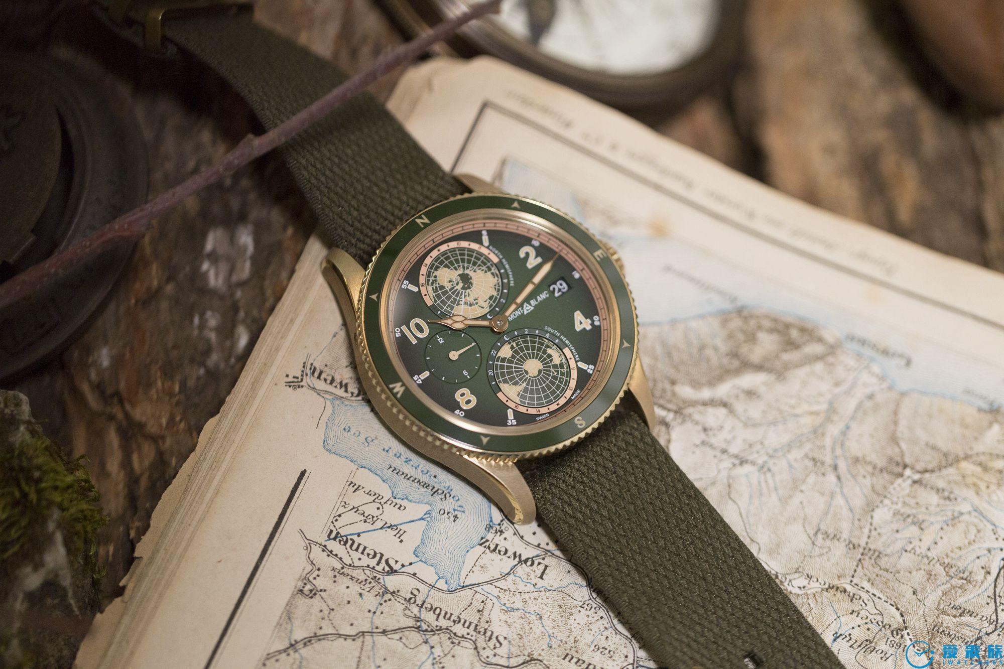 青铜+NATO---万宝龙1858南北半球世界时腕表