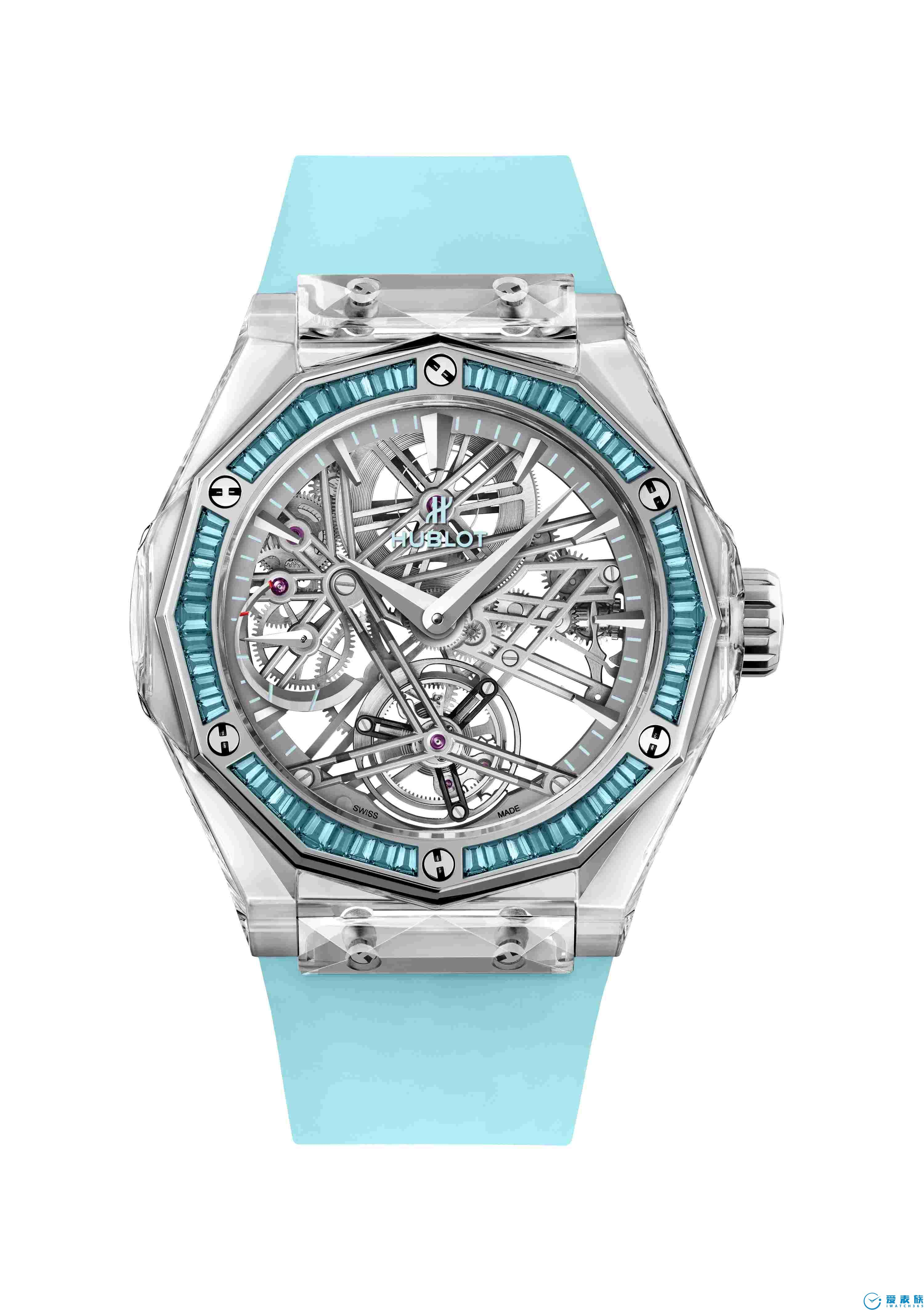 宇舶表經典融合陀飛輪藍寶石奧林斯基孤品腕表 在慈善拍賣會上拍賣成功