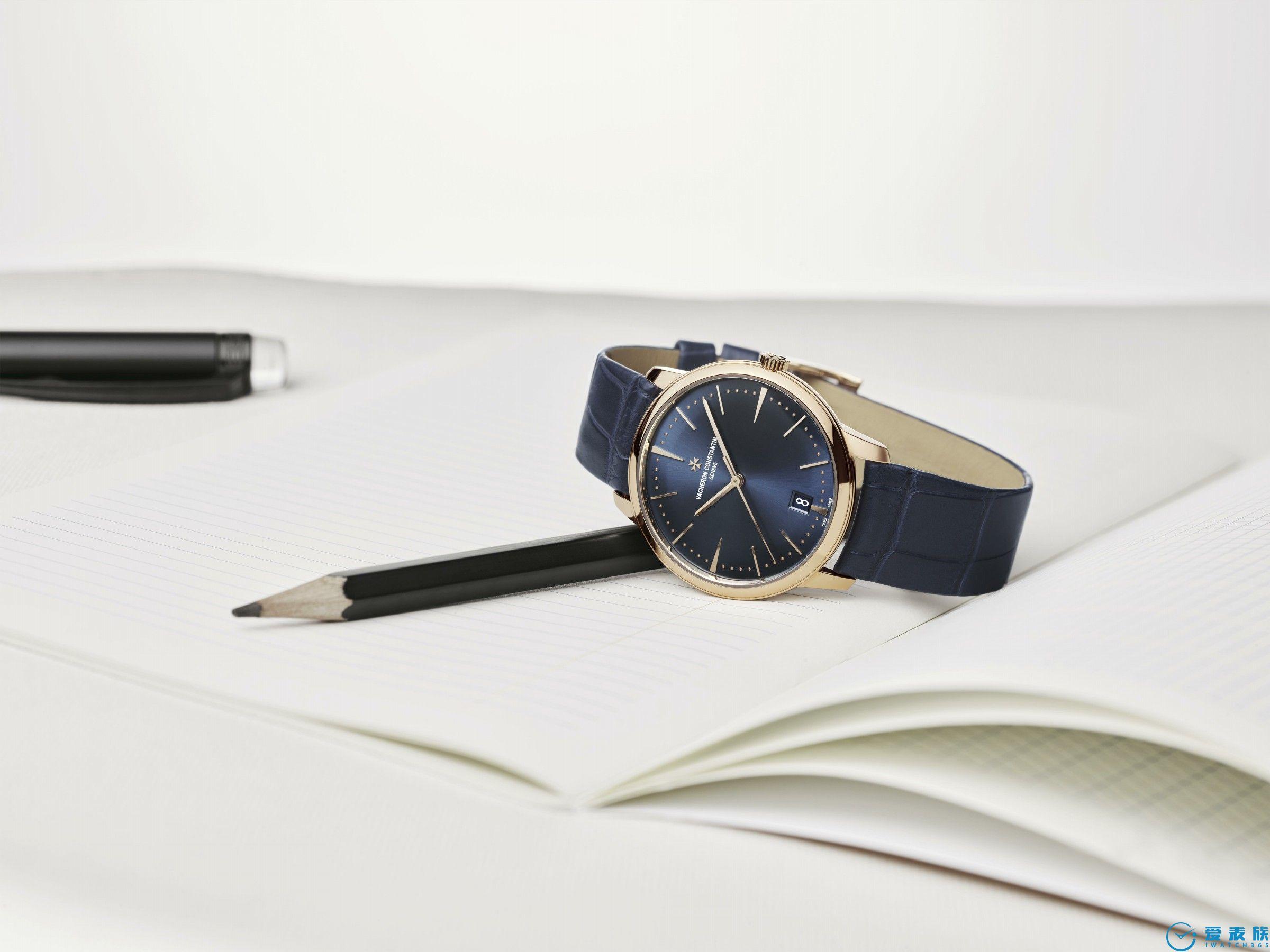 Patrimony传承系列自动上链腕表 午夜蓝的简约优雅之姿