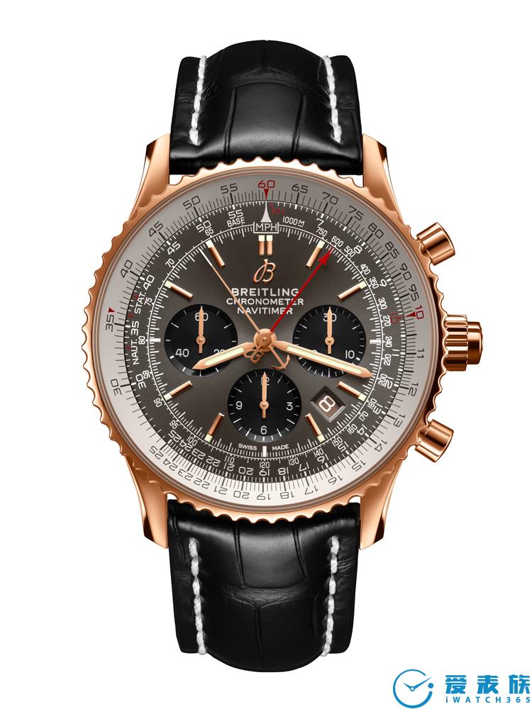 百年灵航空计时B03双追针计时腕表45