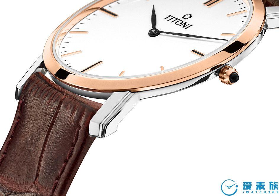 鱷魚皮紋表帶 美麗的鱷魚皮紋表帶優雅裝飾腕表。輕松開關的針式表扣完美搭配纖薄設計。